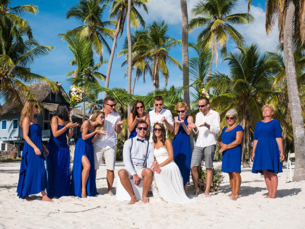 Ślub na plaży goście