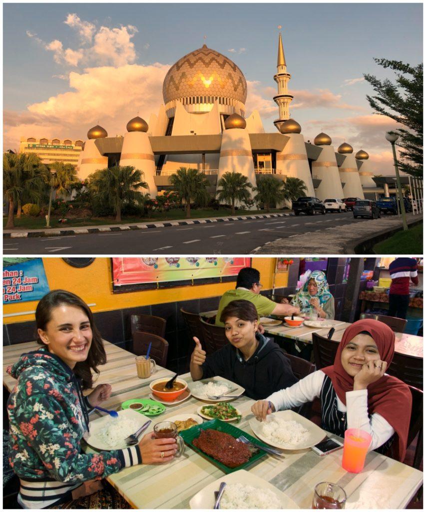 Meczet w Kota Kinabalu i kolacja z lokalnymi, Borneo