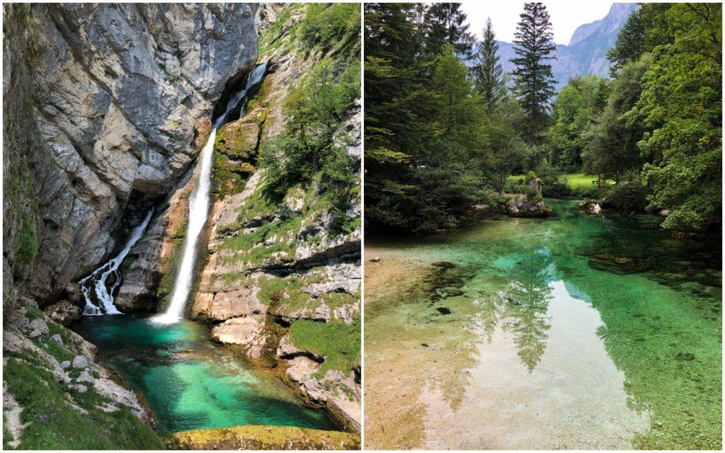 Wodospad Savica i dolina Bohnij Słowenia