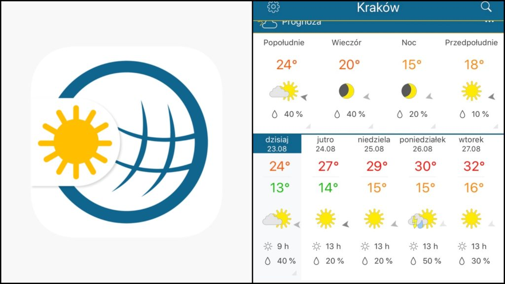 Pogoda Radar Aplikacje podróżnicze