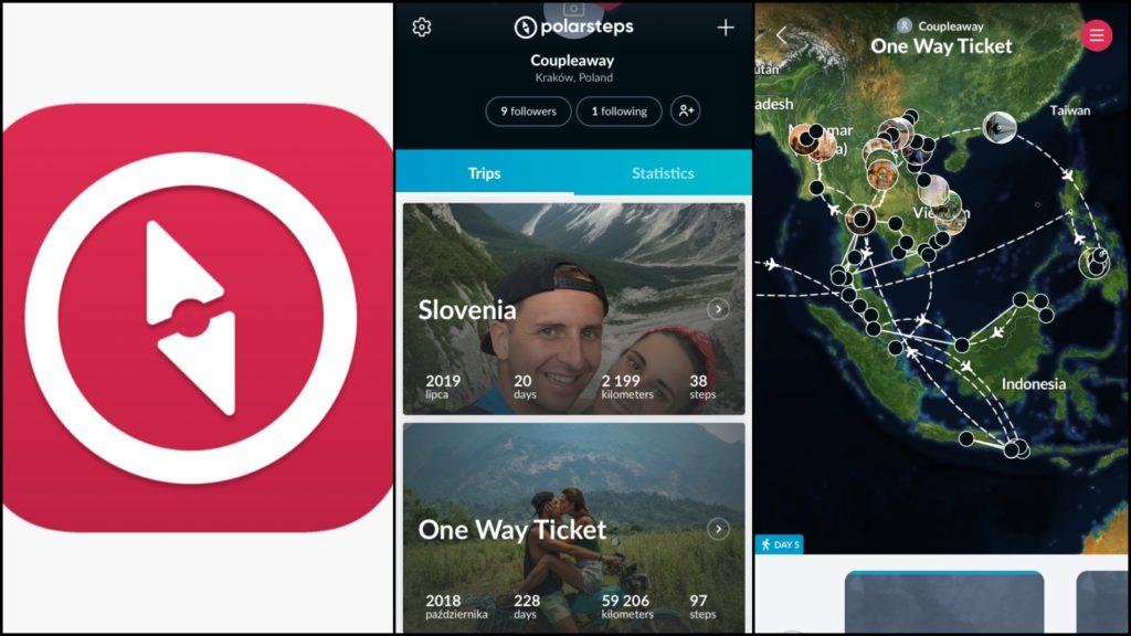 Polar Steps Aplikacje podróżnicze