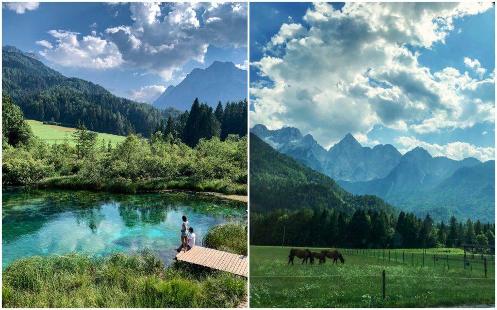 Jezioro Zelenci i okolice Kranskiej Gory Słowenia