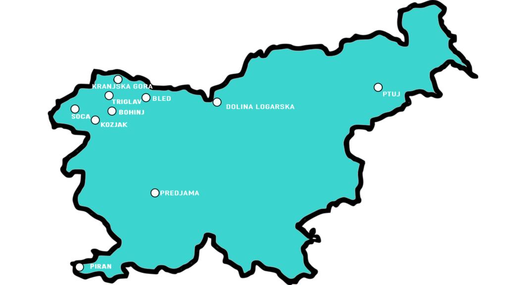 Mapa Słowenii