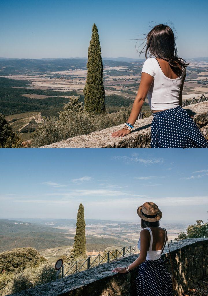 Punkt widokowy w Montalcino Toskania