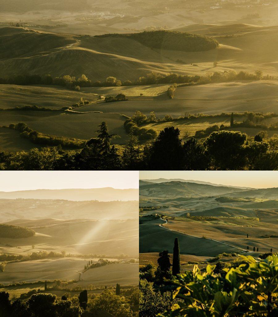 Widok z taras widokowego w Pienzie Toskania