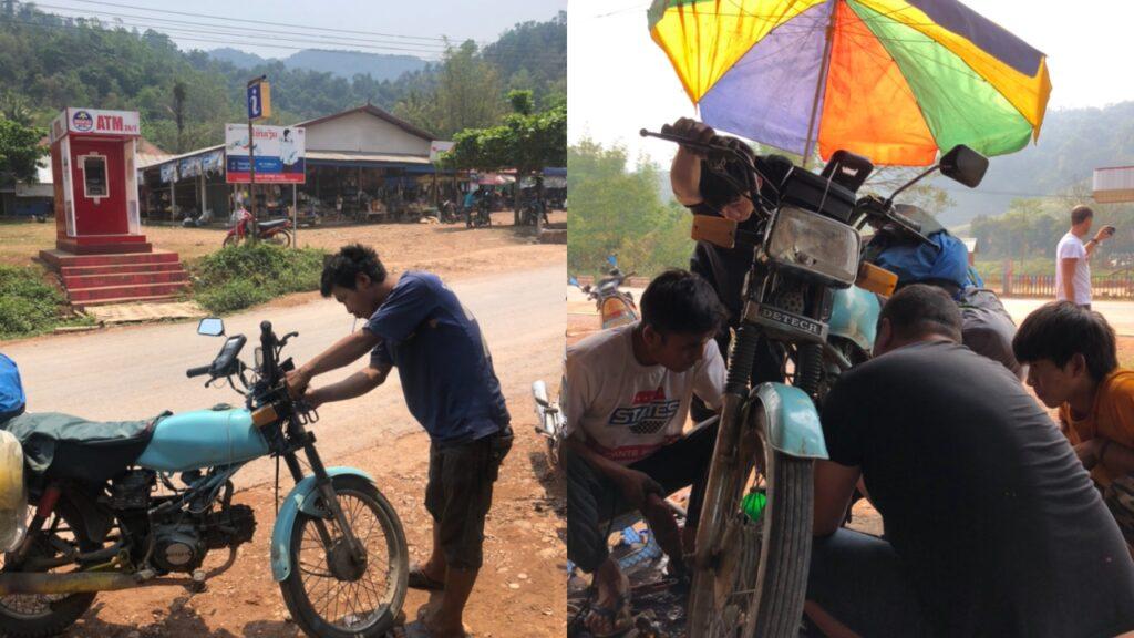 Wietnam i Laos motorem