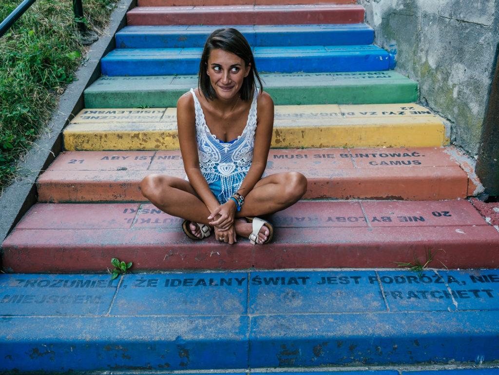 co zobaczyć w Krakowie tęczowe schody