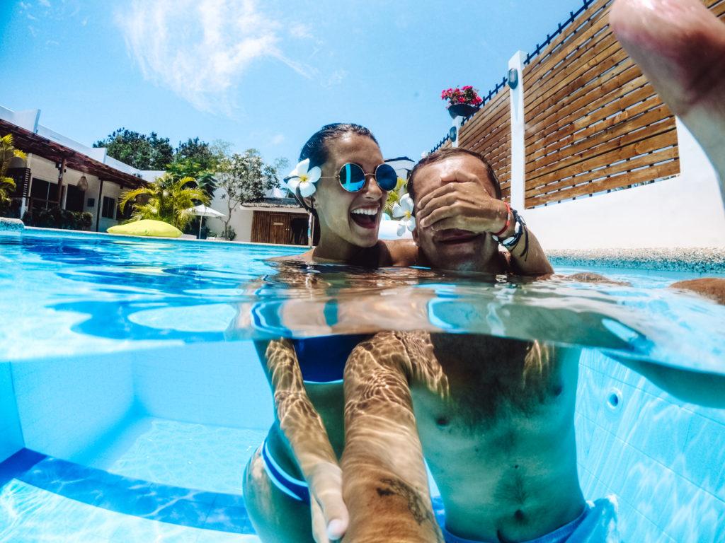 zdjęcie w basenie